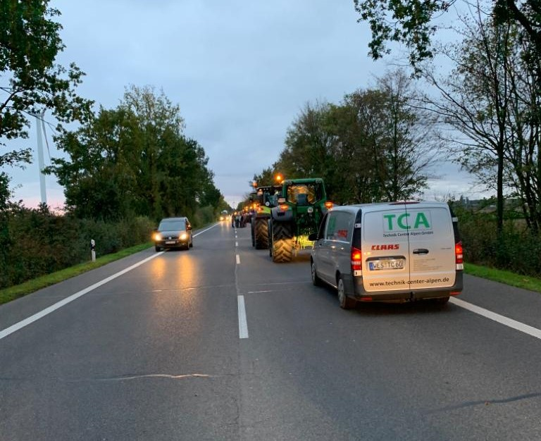 TCA begleitet Demo nach Bonn